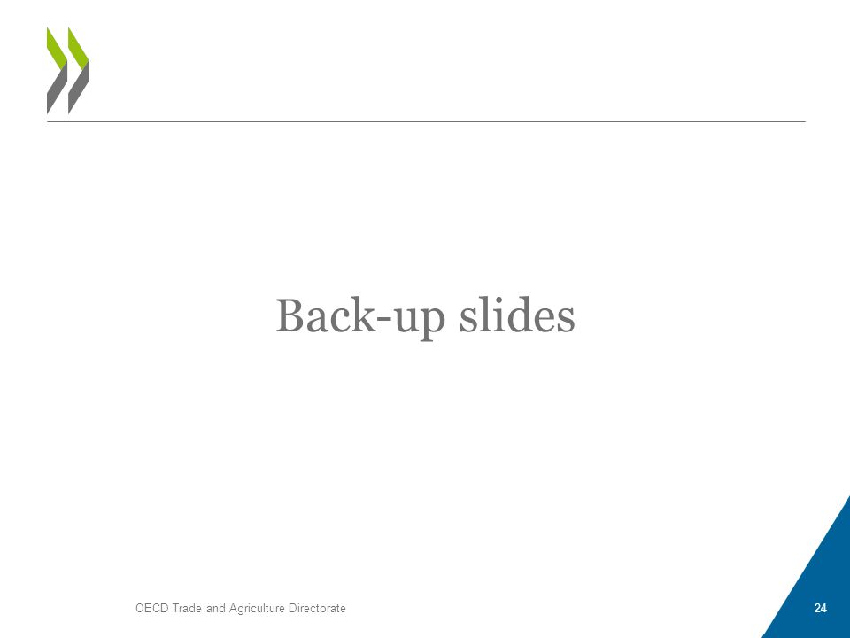Back-up slides OECD Trade and Agriculture Directorate24