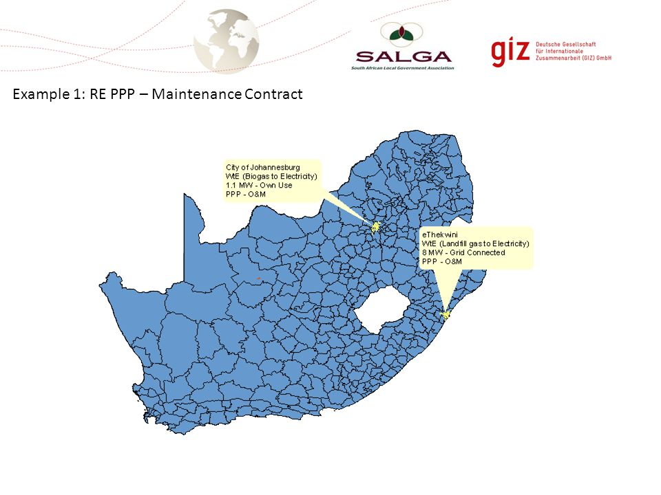 Example 1: RE PPP – Maintenance Contract