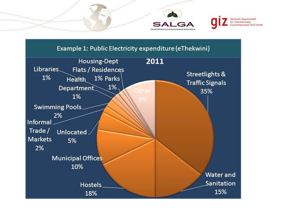 Example 1: Public Electricity expenditure (eThekwini)