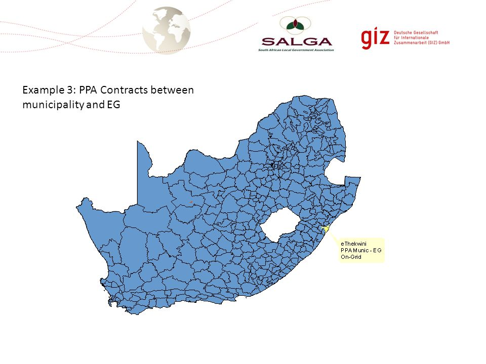 Example 3: PPA Contracts between municipality and EG