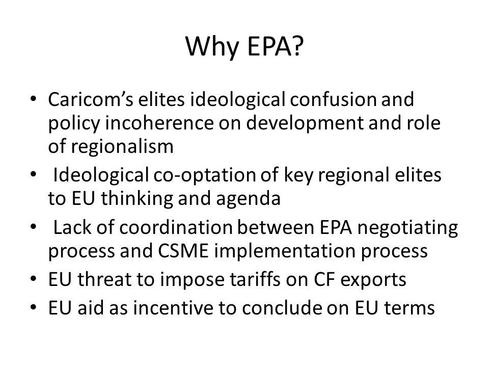 Why EPA.