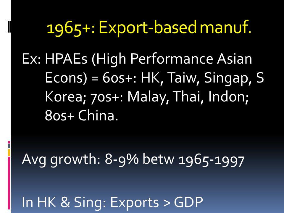 1965+: Export-based manuf.