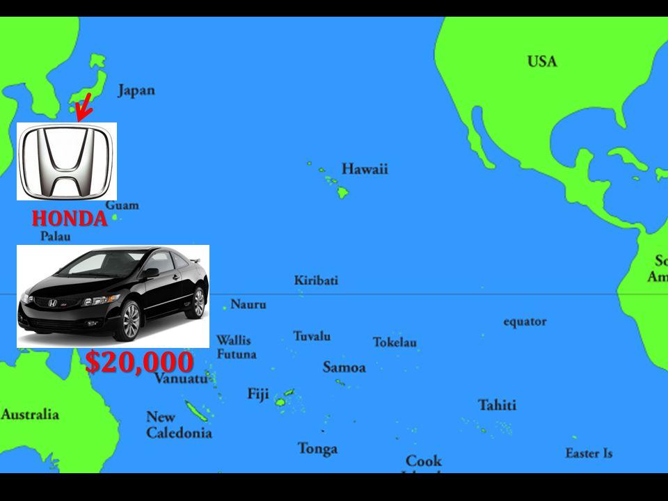 HONDA $20,000 USA ADDS TARIFF of $3,000 $23,000 $20,000