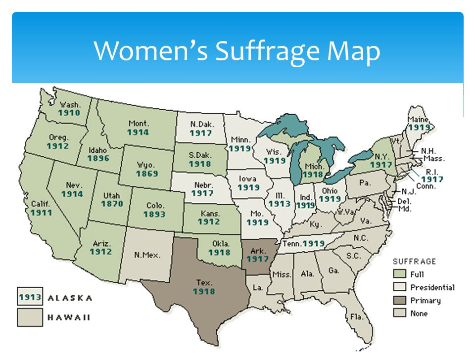 Womens Suffrage Map