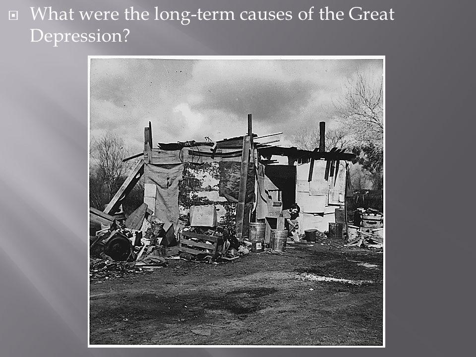 What were the long-term causes of the Great Depression?