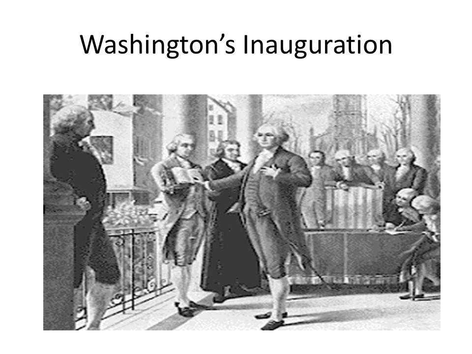 Washingtons Inauguration