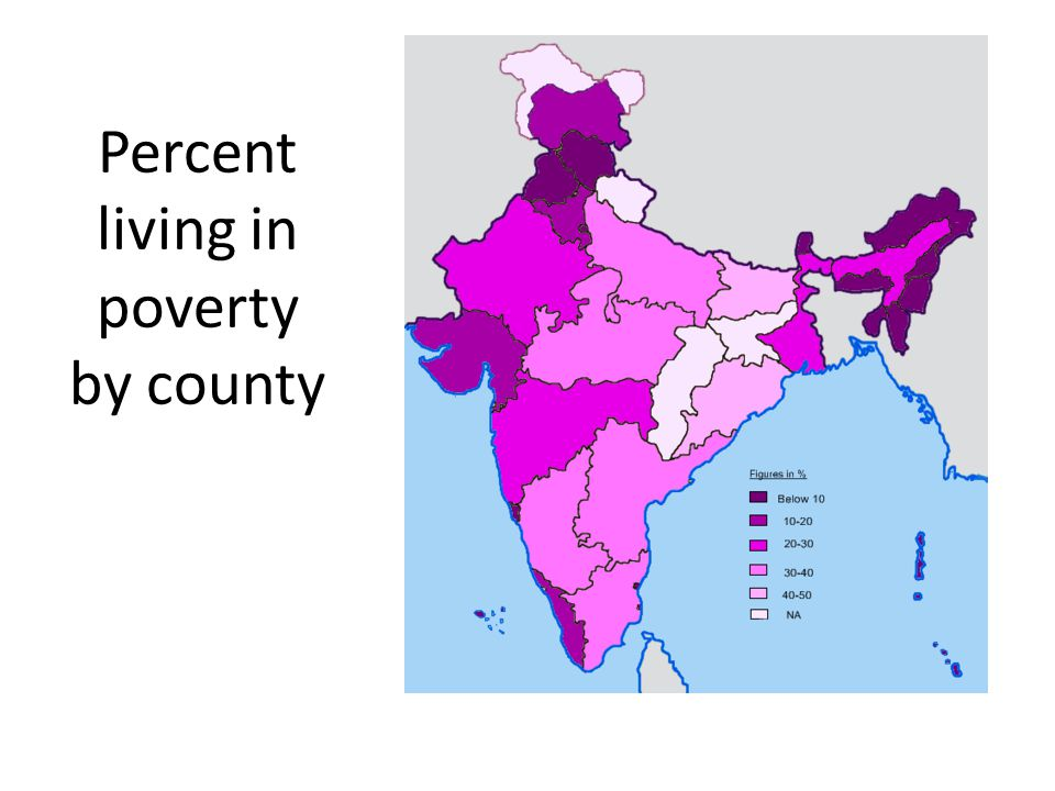 Percent living in poverty by county