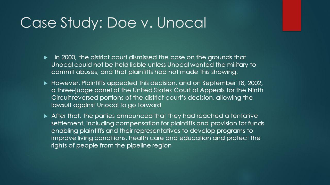 Case Study: Doe v.