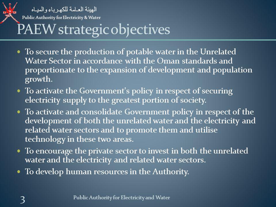Public Authority for Electricity & Water الهيئة العـامة للكهـرباء والميـاه 4 PAEW Water Coverage Area Public Authority for Electricity and Water