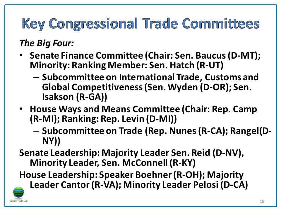 The Big Four: Senate Finance Committee (Chair: Sen.