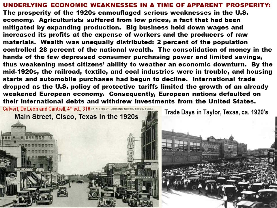 THE COLLAPSE OF THE STOCK MARKET ON OCTOBER 23, 1929.
