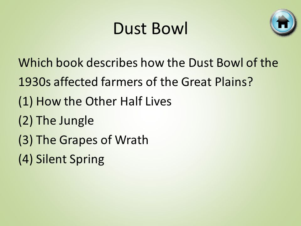 Which book describes how the Dust Bowl of the 1930s affected farmers of the Great Plains.