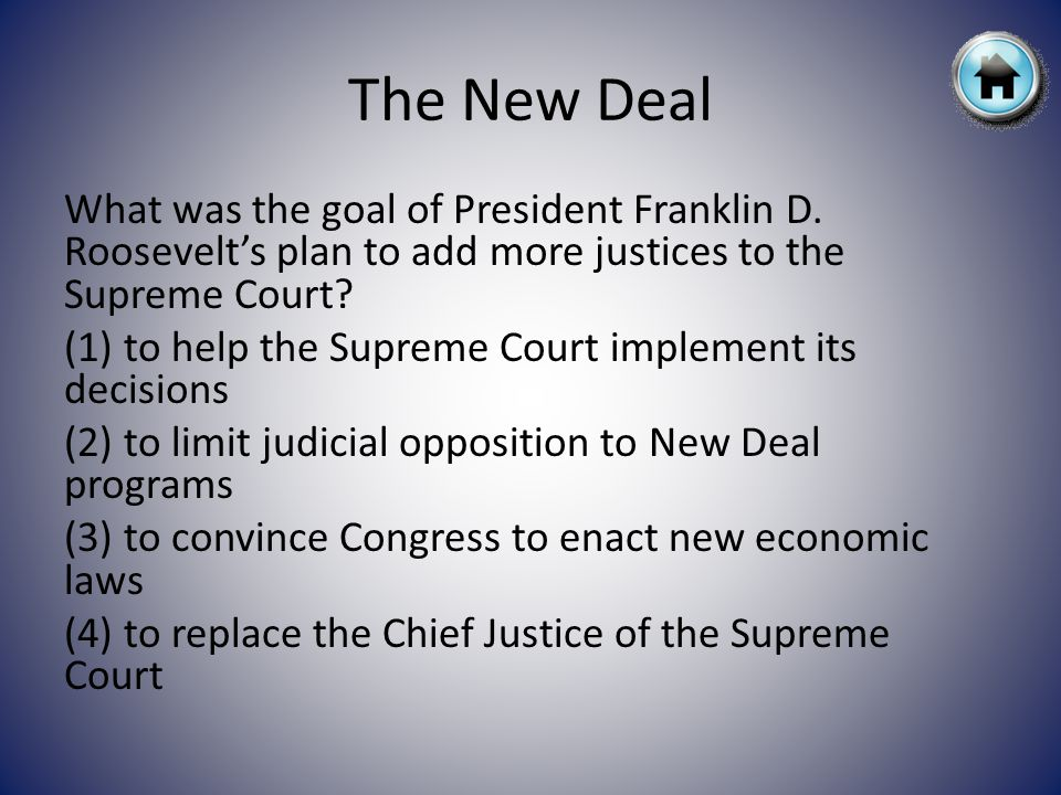 What was the goal of President Franklin D.