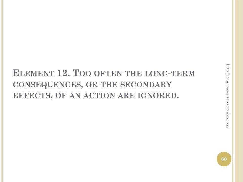 E LEMENT 12.