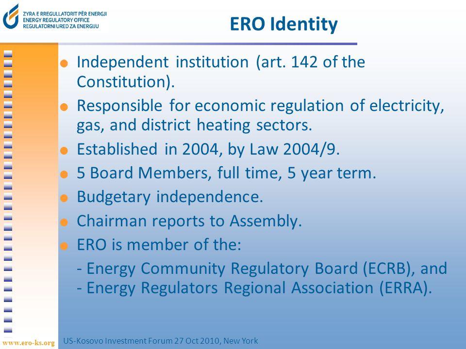 www.ero-ks.org 13 Tariffs issues Electricity Tariff Review 4: tariffs for 1 April 2010 – 31 March 2011.