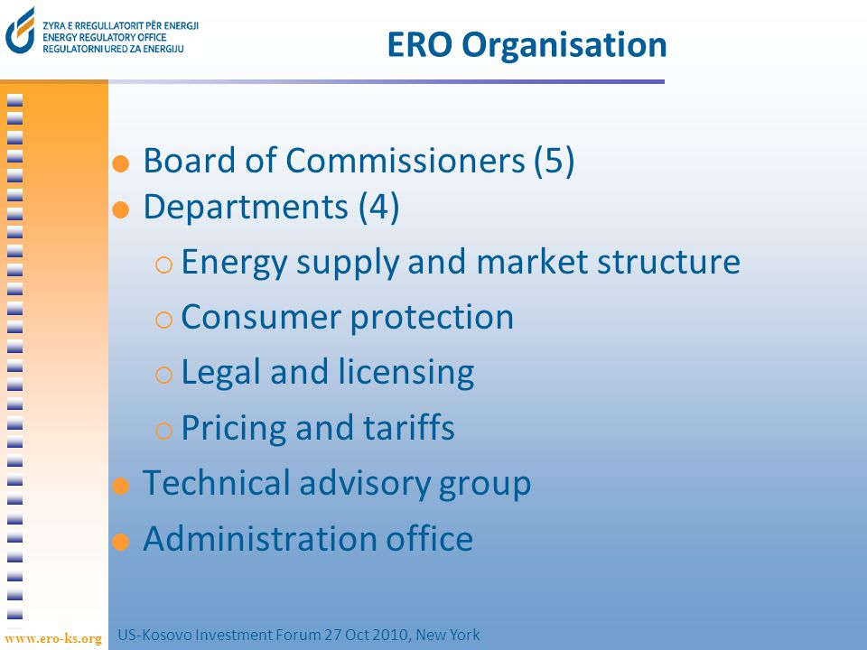 www.ero-ks.org 14 Major challenges for ERO in 2010-11 Ensuring the regulatory framework facilitates the KRPP and KEK transactions, while continuing to protect customers, and meeting EROs legal duties.