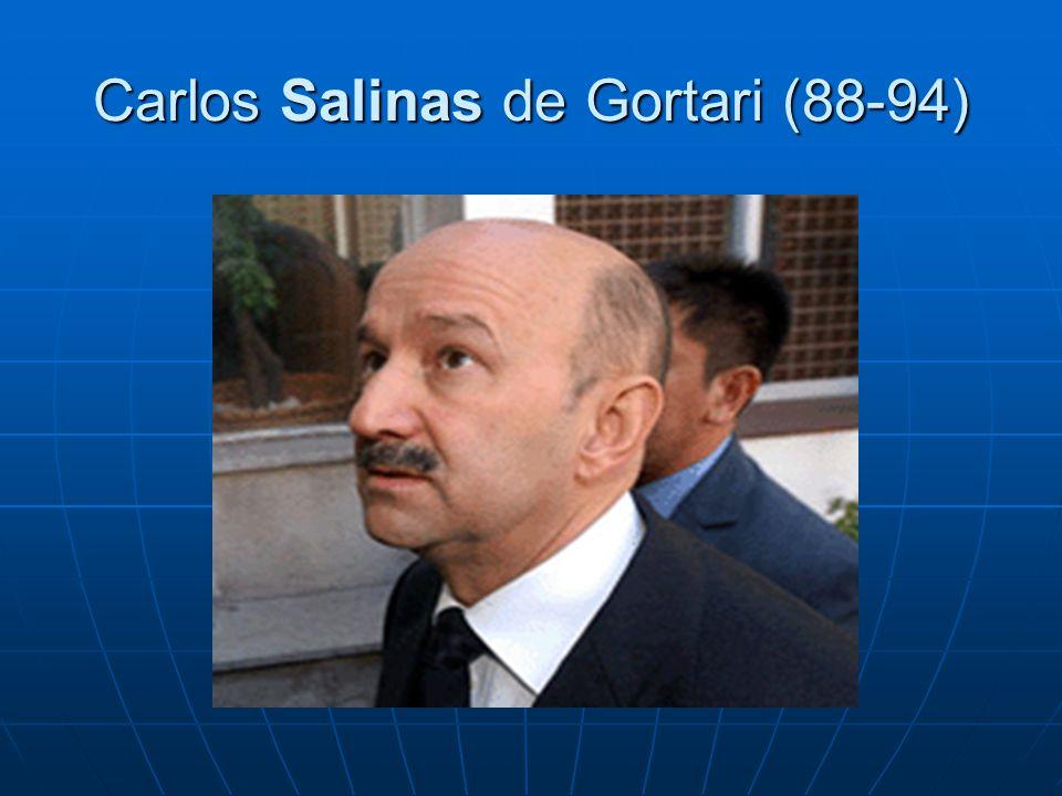 Carlos Salinas de Gortari (88-94)