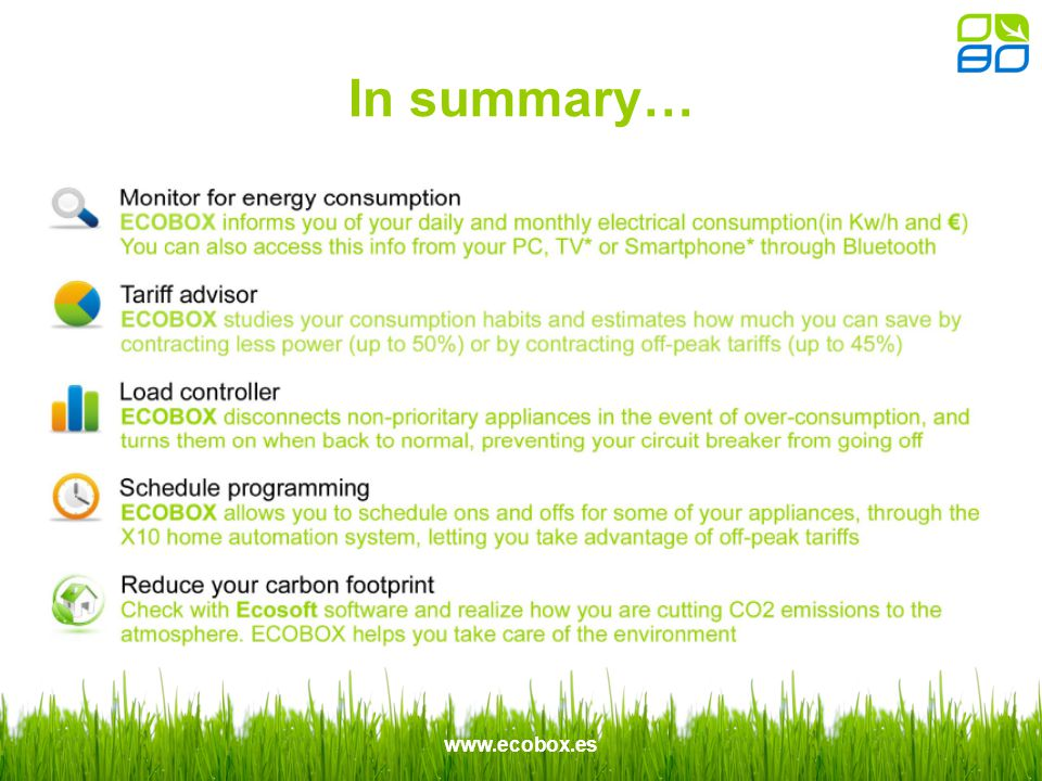 www.ecobox.es In summary…