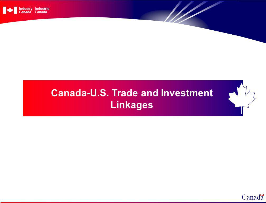 Canada-U.S. Trade and Investment Linkages Canada IndustryIndustrieCanada