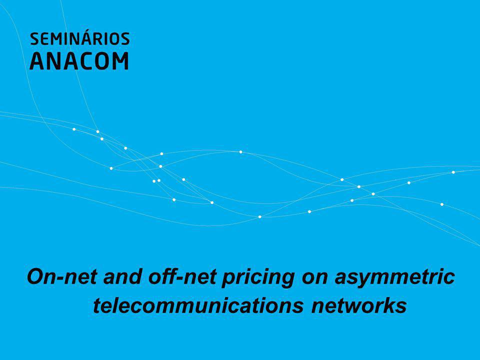 On-net and off-net pricing on asymmetric telecommunications networks