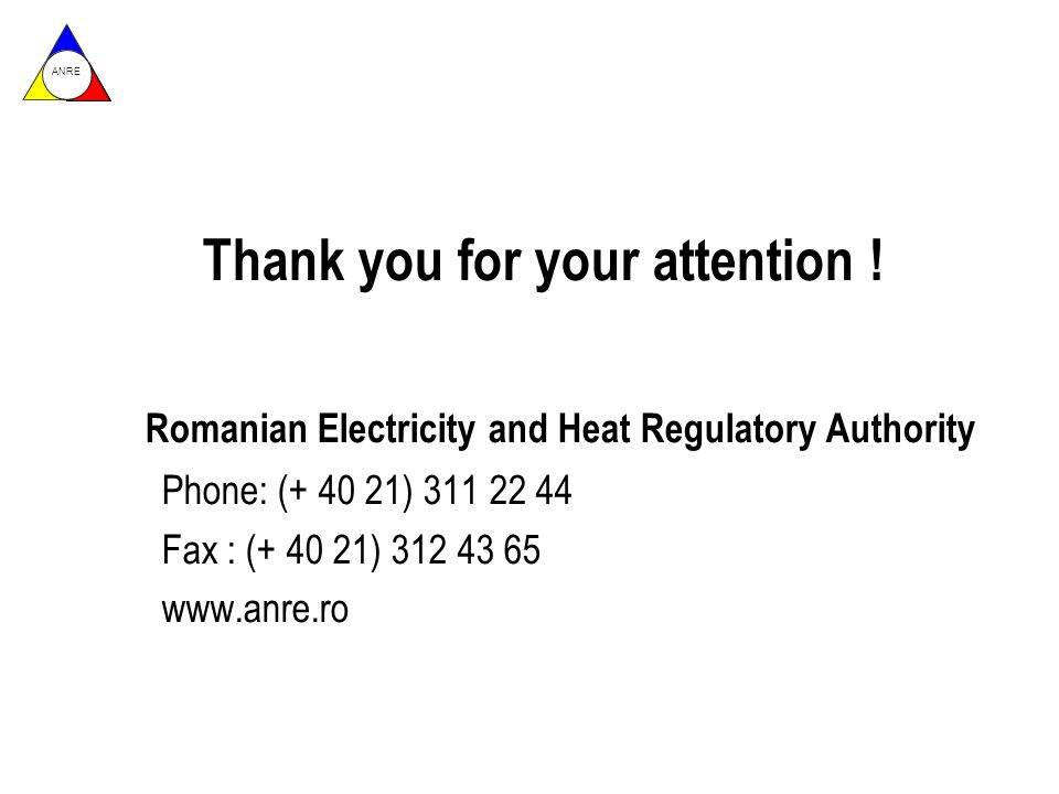 ANRE Thank you for your attention .