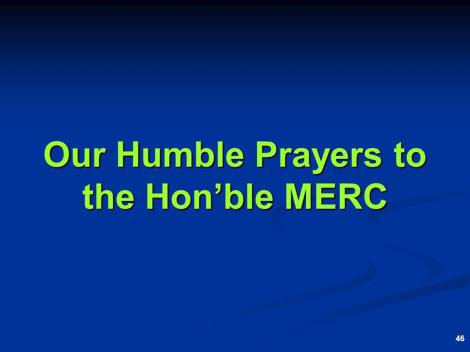 46 Our Humble Prayers to the Honble MERC