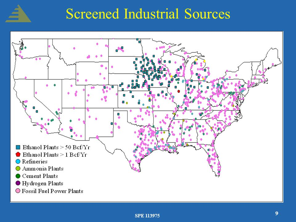 SPE 113975 9 Screened Industrial Sources