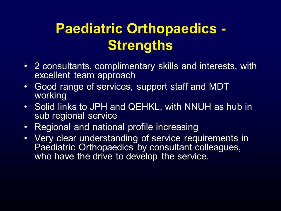 Academic Orthopaedics - Opportunities At least 1 local candidate who would be suitable as a proleptic appointment As it happens has a knee interest (desirable, but not essential) Possible external candidates already established consultants.