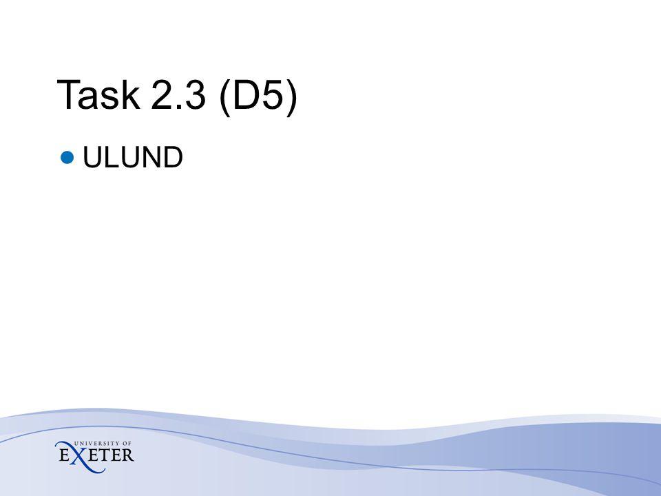 Task 2.3 (D5) ULUND