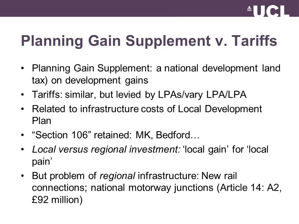 Planning Gain Supplement v.