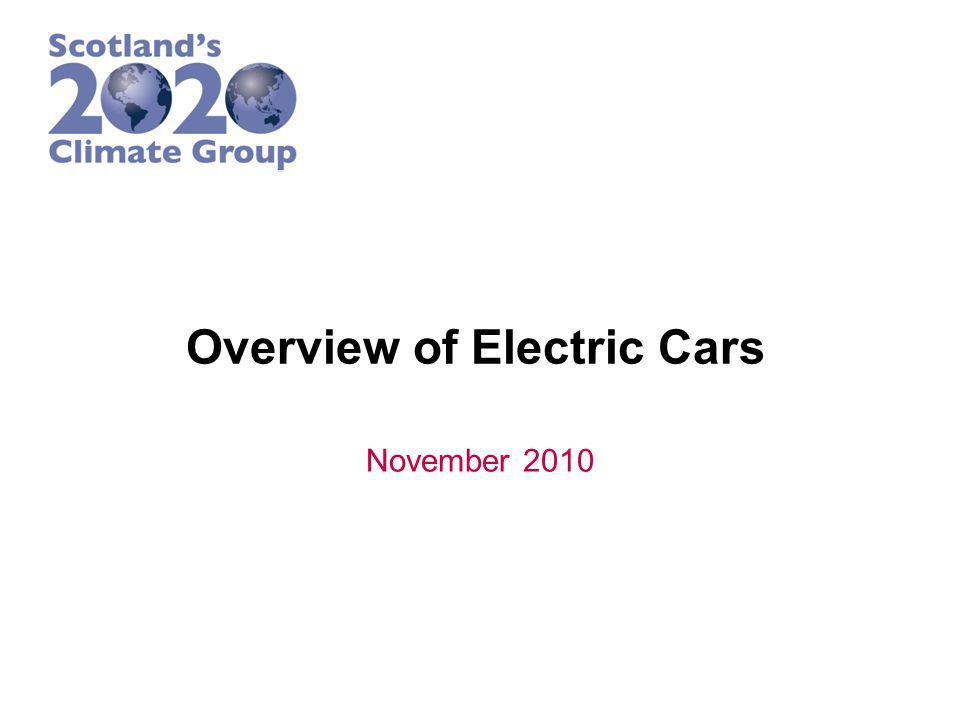 Overview of Electric Cars November 2010