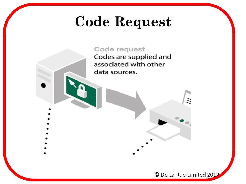 Code Request © De La Rue Limited 2012