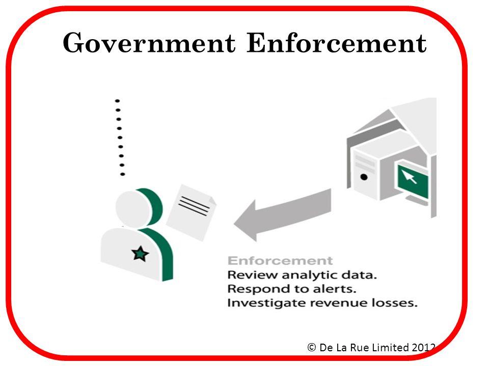 Government Enforcement © De La Rue Limited 2012