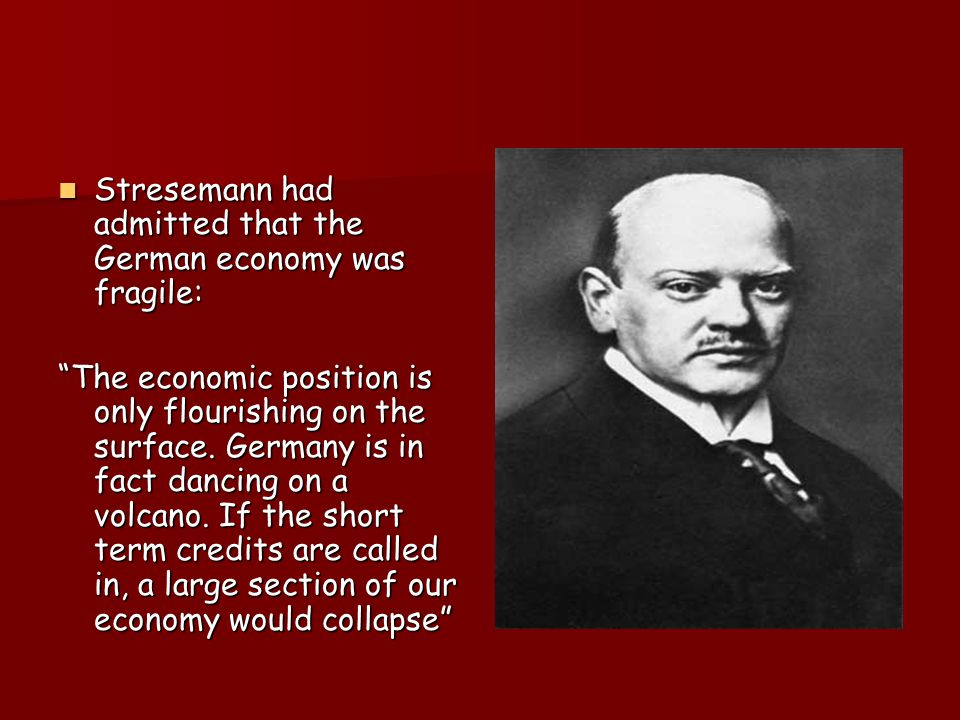 How did the Depression affect Germany? The Weimar Republic was devastated by the Wall Street Crash The Weimar Republic was devastated by the Wall Stre