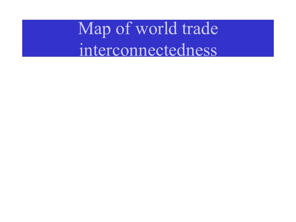 Map of world trade interconnectedness