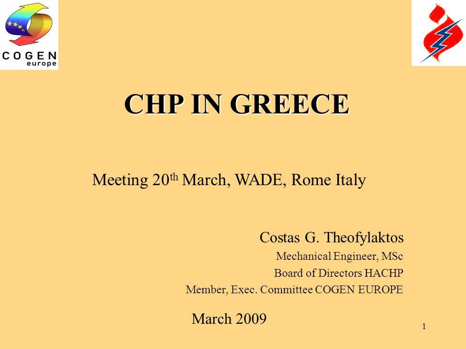 1 CHP IN GREECE Costas G.