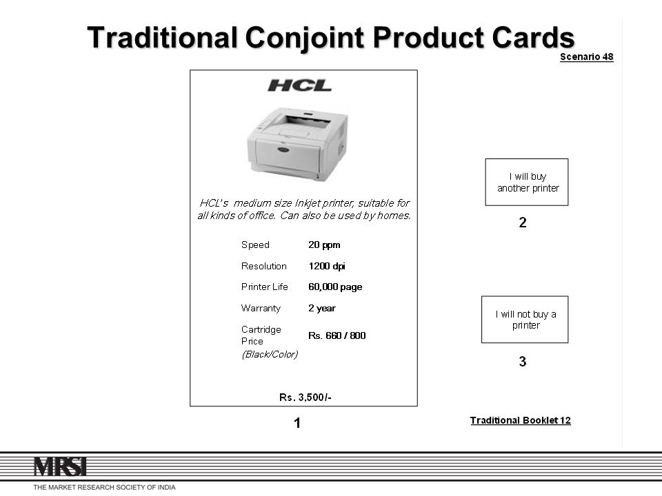 Traditional Conjoint Product Cards