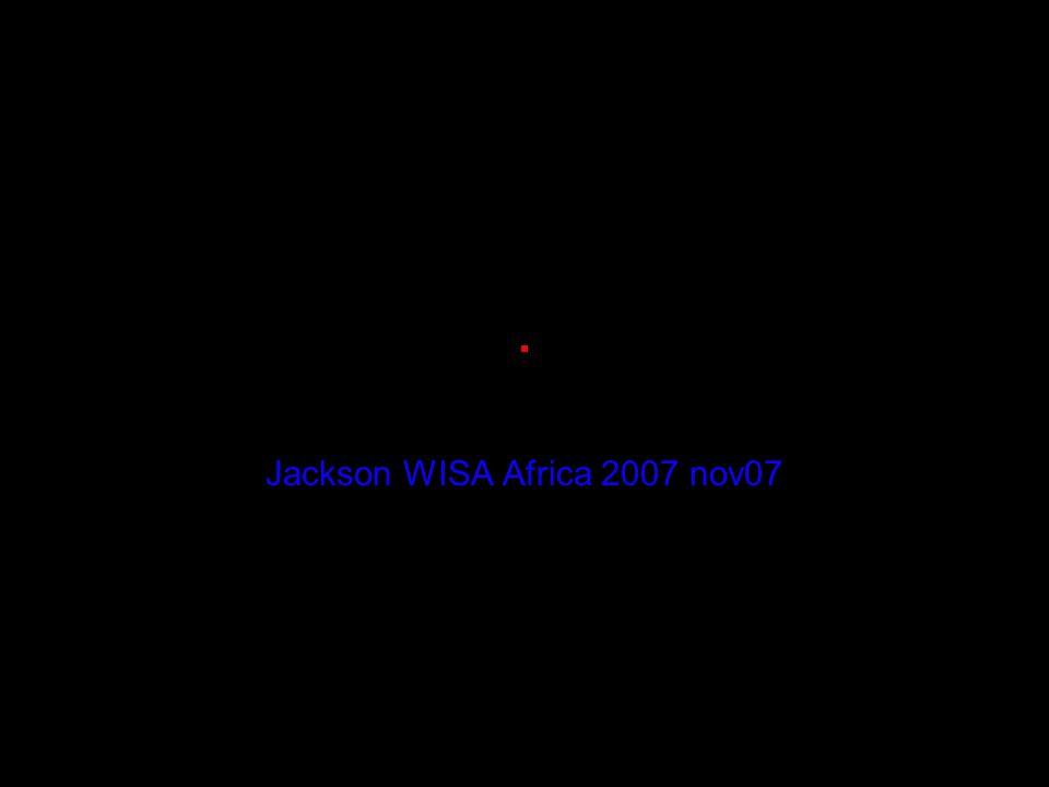 . Jackson WISA Africa 2007 nov07