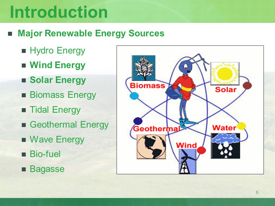 7 Present Installed Capacity of Renewable Energy Sources in India Renewable Energy SourcePresent Installed Capacity Wind10200 MW Small Hydro2100 MW Bagasse750 MW Biomass620 MW Solar2 MW Total RE Installed Capacity – 13672 MW Source: Ministry of New & Renewable Energy Sources (MNRE)