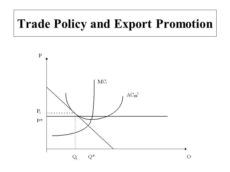 Trade Policy and Export Promotion
