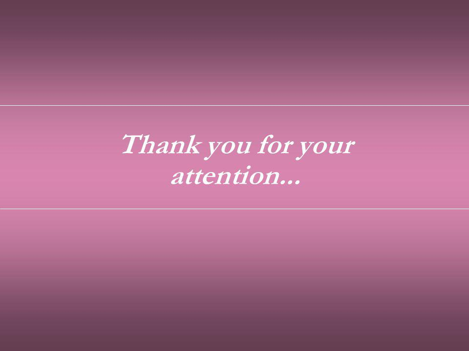 Thank you for your attention...