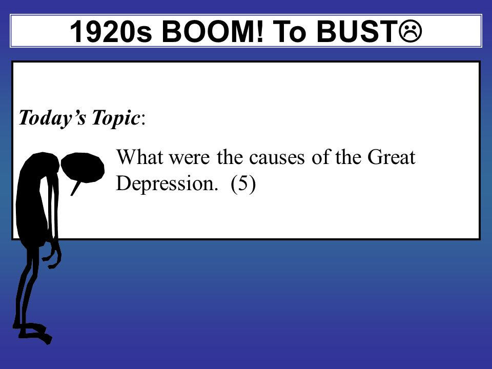 Where we are at: Speed Bump 1919 CRASH! Depression 1920s New Industries Awesomeness!