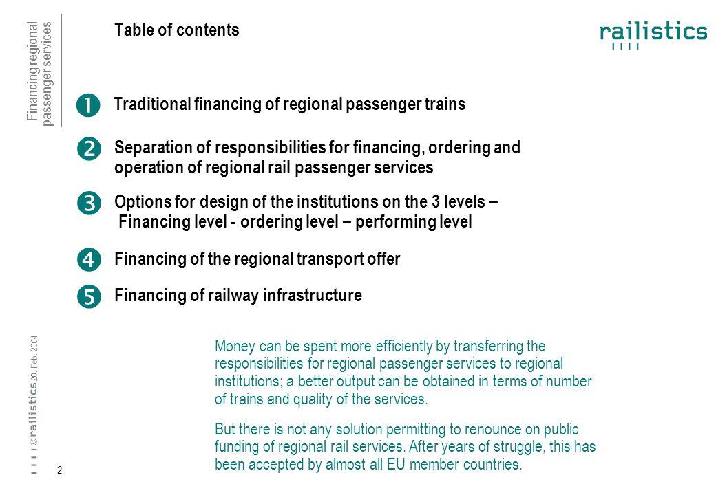 Financing regional passenger services 20. Feb.