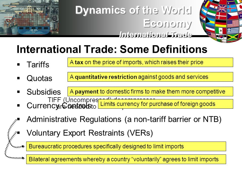International Trade: The Debate Infant Industry Protection: The Rationale/Truth Countries that dont have a manufacturing base, that dont have the capacity to produce in cutting-edge industries, will also be weak and subservient Countries that dont have competitive industries will never achieve strong, independent economic growth Countries that dont protect and nurture vital industries will always be second- or third-rate powers; they will always be dependent on others and on the ebbs and flows of larger economic forces International Trade: The Debate Infant Industry Protection: The Rationale/Truth Countries that dont have a manufacturing base, that dont have the capacity to produce in cutting-edge industries, will also be weak and subservient Countries that dont have competitive industries will never achieve strong, independent economic growth Countries that dont protect and nurture vital industries will always be second- or third-rate powers; they will always be dependent on others and on the ebbs and flows of larger economic forces Dynamics of the World Economy International Trade