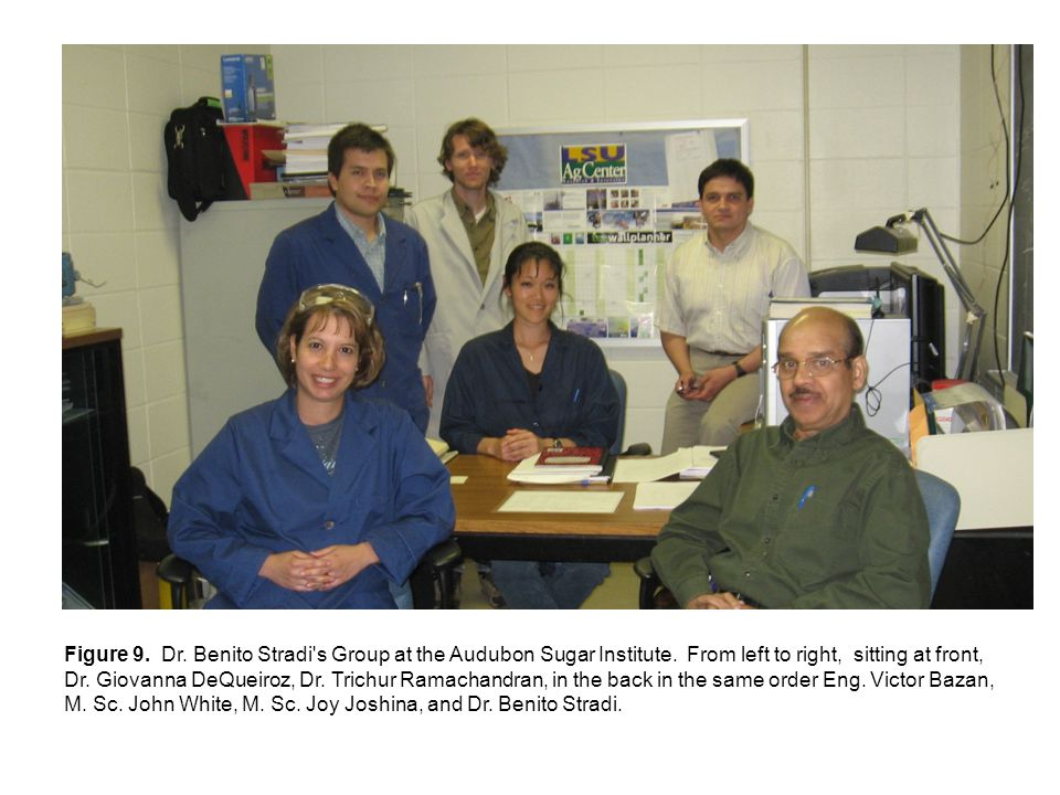 Figure 9. Dr. Benito Stradi s Group at the Audubon Sugar Institute.
