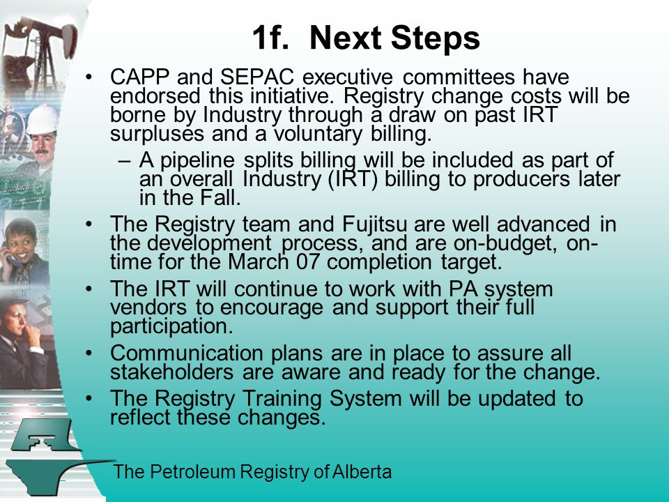 The Petroleum Registry of Alberta 1f.