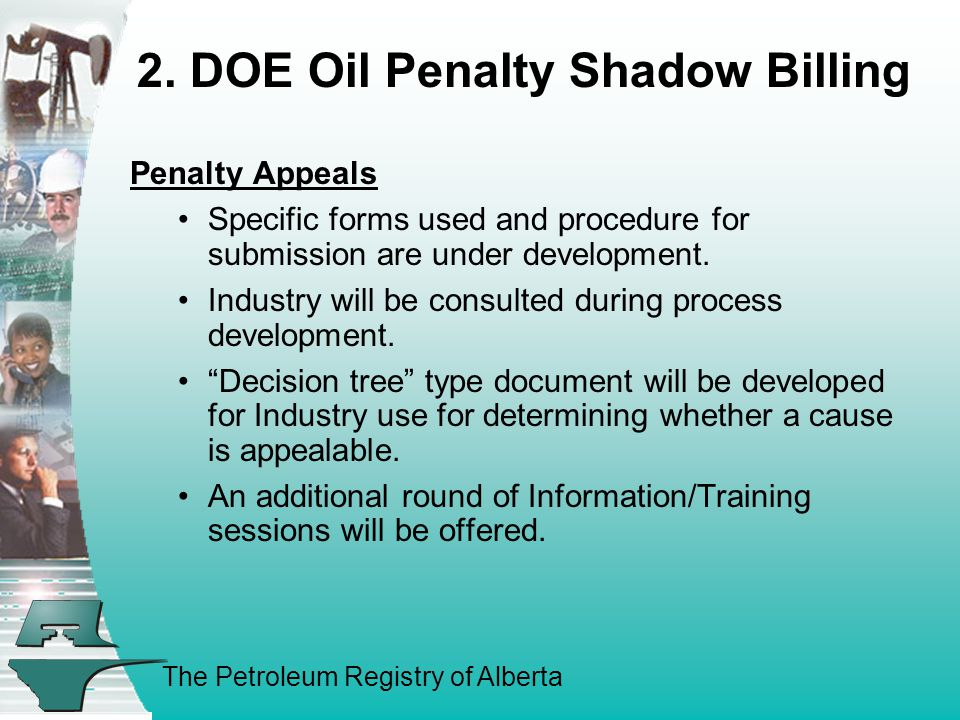 The Petroleum Registry of Alberta Penalty Appeals Specific forms used and procedure for submission are under development.