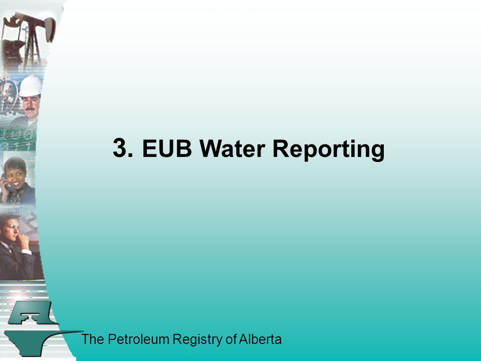 The Petroleum Registry of Alberta 3. EUB Water Reporting