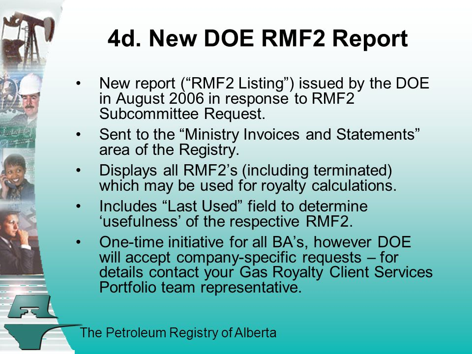 The Petroleum Registry of Alberta 4d.