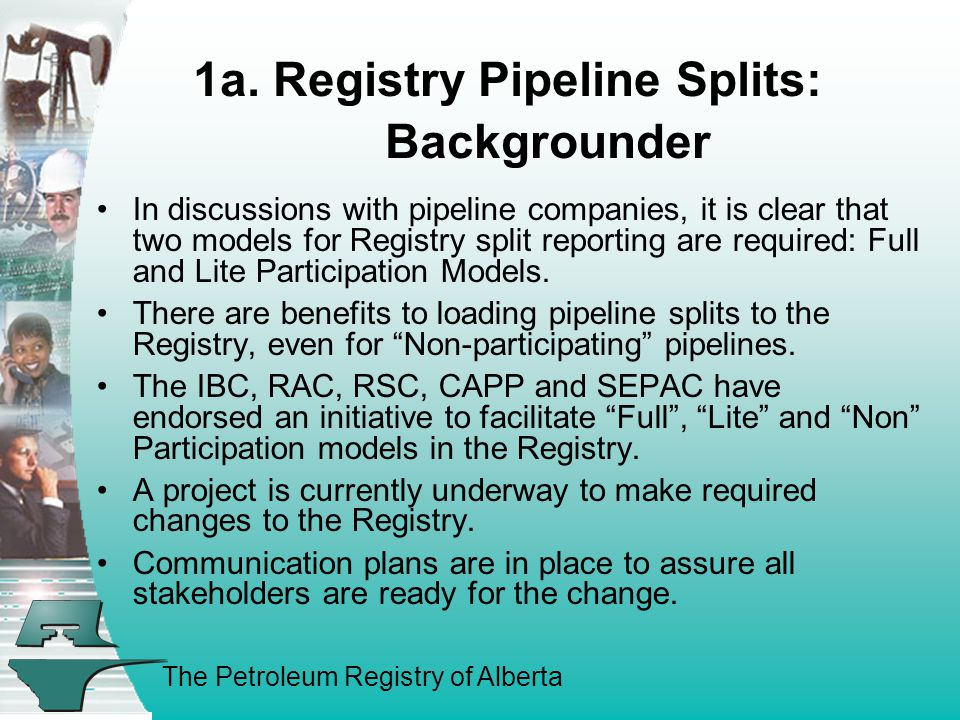The Petroleum Registry of Alberta 1a.